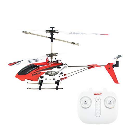 efaso Neue 2019er Version - 2,4GHz 3-Kanal Helikopter - Syma S107H mit automatischer Höhehaltung Altitude Hold, automatischer Start-/Landefunktion und Akkustandswarnung - Syma Rot Helicopter
