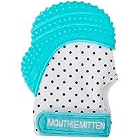 Mouthie Mitten - Mitón manopla de para dentición silicona - diferentes colores - Azul, Recién nacido - 12 meses más o menos