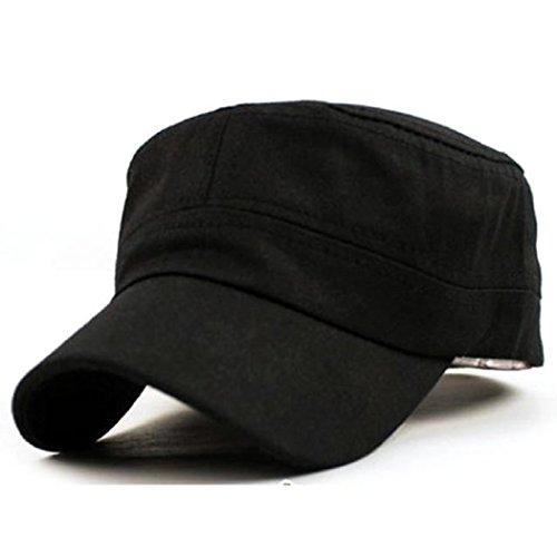 WOCACHI Herren Baseball Caps Klassische Vintage Plain Army Military Cadet Style Baumwolle Verstellbare Cap Hüte Mützen