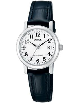 Lorus Damen-Armbanduhr XS Classic Analog Quarz Leder RH765AX9