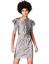 find. Damen Plisse-Abendkleid in Metallic