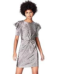 Idea Regalo - FIND AZ008 vestito da sera donna, Argento (Silber), 46 (Taglia Produttore: Large)