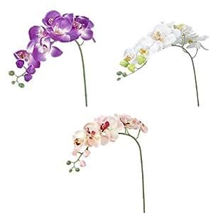 PIXNOR Fiori Pianta Artificiali per Home Nozze Decoration (Rosa Bianco Viola)