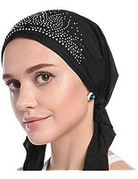 Amazon.it  foulard donna - Nero   Fazzoletti da testa   Sciarpe e ... 01b506149a27