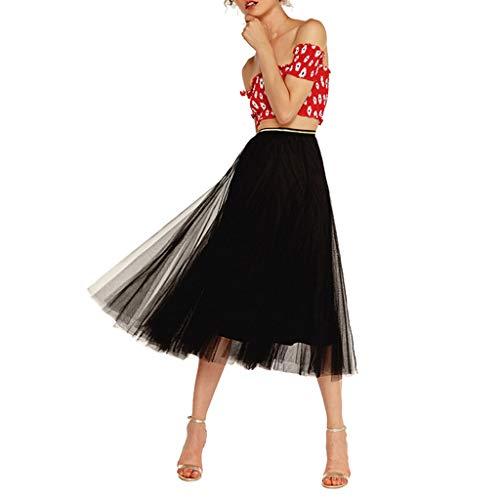 Dalmatiner Kostüm Tanz - KPPONG Frauen Tüllrock Maxiröcke Knielang Tüll Tutu Rock Ausgestellter Petticoat Unterrock Tanzkleid