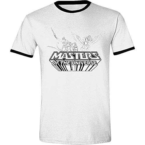 23bff7a09ac Masters of the Universe Men s T-Shirt He-Man She-Ra Cotton White