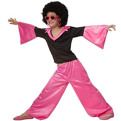 dressforfun 900496 - Mädchenkostüm Groovy Disco Girl, Zweiteiliges Disco-Outfit im Stil der 70er (128 | Nr. 302371)