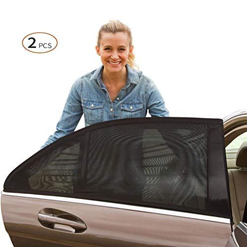 Viccioo Sonnenschutz Auto für Baby Kinder, Universelle Autofenster Sonnenblenden mit UV Schutz für Kinder und Haustiere, Sonnenschutzrollo Auto für Seitenfenster Meshmaterial Schützt Mitfahrer