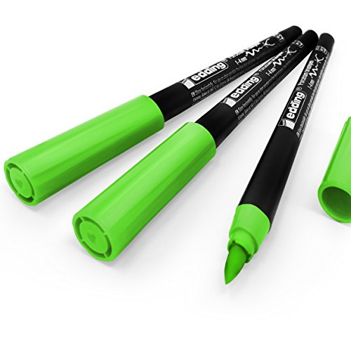 Edding 4200Porzellan-Pinsel, 1–4mm–Pack von 3–hellgrün # 11