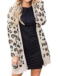 Liquidación Mujeres Leopardo Invierno Sexy cálido Abrigo Caliente de Piel sintética Abrigo Cardigan Outwear Chaqueta de