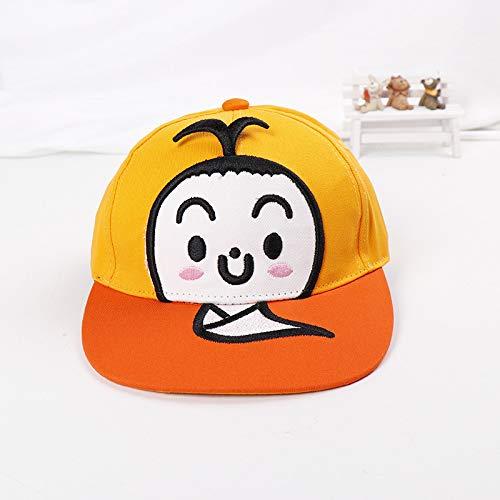 Kostüm Hotdog Baby - mlpnko Cartoon Kinder Baseballmütze neu Bestickt Baby Schutzhelm Mütze Baby Sonnenhut Reisen Reisen Sonnenhut Ghost Ghost Baseball Cap - gelb 49-51cm geeignet für 2-4 Jahre alt