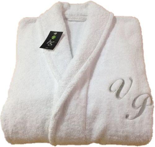 Hotel Spa Edition Schalkragen weiß Monogramm personalisiert Bademantel 100% Baumwolle, 100% Baumwolle, weiß, M (Baumwolle 100 Monogramm-bademantel)