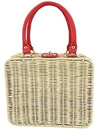 f372925c203c1 Dancing Days Kara Handtasche 50er Jahre Weide Picknick Natur Beige Vintage  Quadratische Tasche
