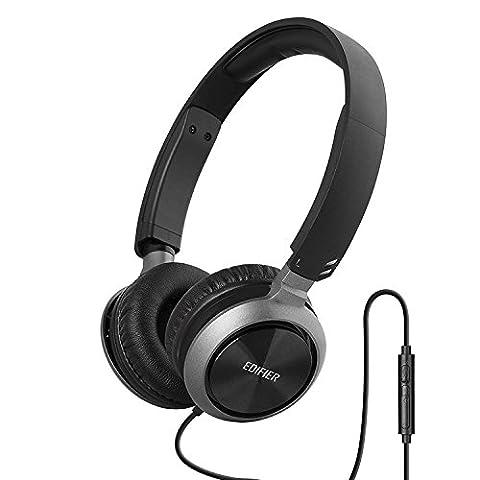 Edifier M710 On-Ear Kopfhörer Mit Mikro und Laustärkeregler Schwarz