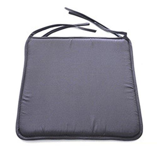 Favolook, Quadratische Sitzkissen zum Anbinden, Wasserdicht, ideal für Esszimmer, Sofas, Autos, Büro, dunkelgrau, Free Size