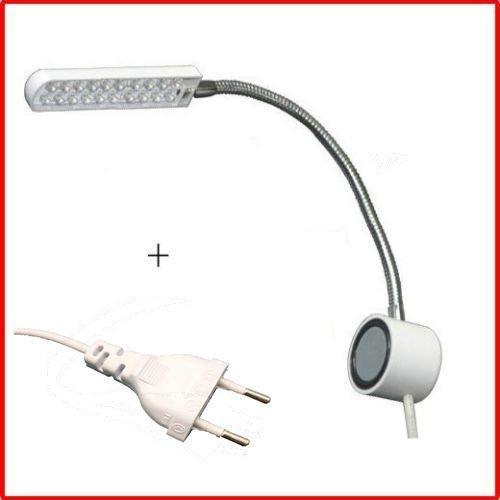 honeysew LED 20Nähen Schwanenhals Lampe Magnetischer Unterseite + Stecker für BERNINA weiß