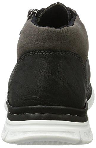 Rieker B4824, Sneakers Hautes Homme Noir (Schwarz/rauch/fumo)