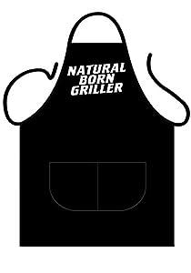 Tannhäuser Tann Casas 43-100155Black Delantal Deluxe de Natural Born Griller, unisex de adulto, One size