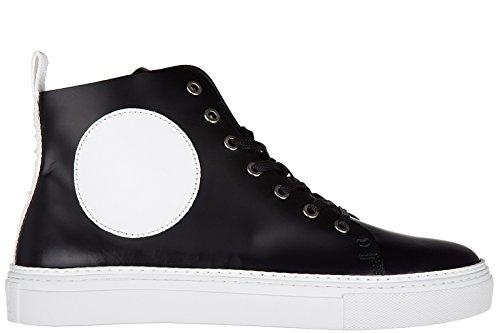 MCQ Alexander McQueen scarpe sneakers alte uomo in pelle nuove chris mid brush off heavy nero EU 44 421737 R1107 1014