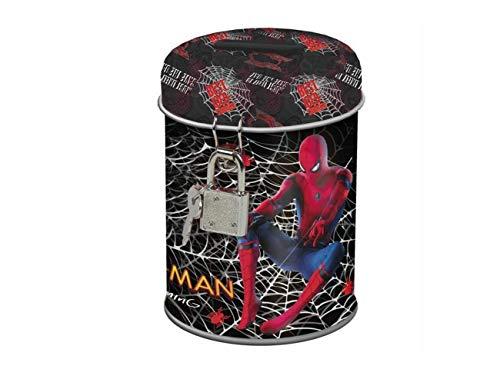 Theonoi Marvel Spiderman Kinder - Spardose / Sparbuchse / Schatzkiste / Sparschwein Dose / Box aus Metall - Geschenk für Jungen (Spiderman )