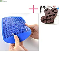 Bluester Silicone 160 Freeze Ice Cube Mold, Bar Pudding Jelly Chocolate Mold Maker/ Blue