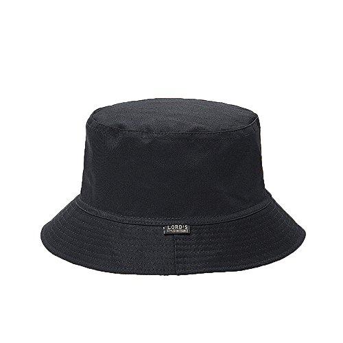 Nameblue Unisex Bucket Hat Fischerhüte Sommerhut Foldable Faltbar Baumwolle Schwarz V142 (Damen Schwarze Bucket Hat)