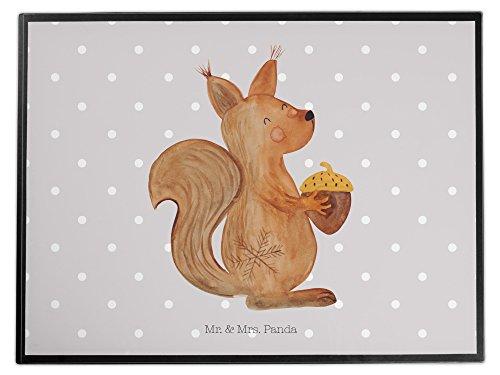Mr. & Mrs. Panda Schreibtischunterlage Eichhörnchen Weihnachten - 100% handmade in Norddeutschland...