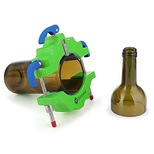 Flaschenschneider 1.1, Genround Glasflaschenschneider Glas Bottle Cutter Maschine Wein Bier Glasflaschen Schneider Glasschneider für flaschen Schneidwerkzeug Kit - Grün