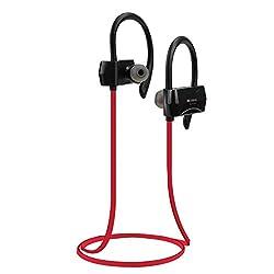 Zakk Sport In-Ear Bluetooth Earphone with Mic (Red)/Bluetooth headset/Wireless headphones