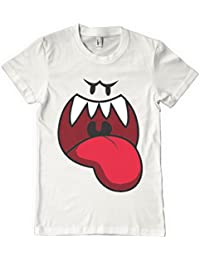 Super mario brothers t shirt luigi smash brothers t shrit video game Boo_Face_White