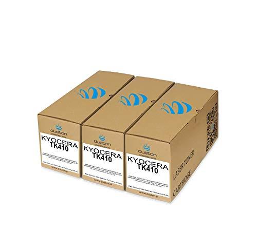 3 toner TK410, nero, compatibili con Kyocera KM1620 KM1635 KM1650 KM2020 KM2035 KM2050