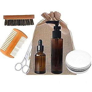 ADIASEN Bartöl, Bartcreme, Bartbalsam, Bartshampoo, Bartbürstenschere Kamm-Zubehör-Sets für Männer