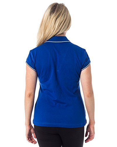 Polo Femme Women's Russel Dri-Power Col V Bleu Royal