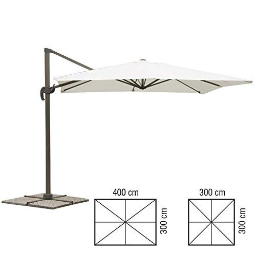 Verdelook, ombrellone 3x4 ecru p/later