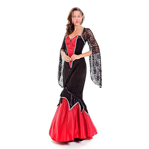 kMOoz Halloween Kostüm,Outfit Für Halloween Fasching Karneval Halloween Cosplay Horror Kostüm,Halloween Kostüm Vampire Queen Kostüm Sexy Kostüm Cosplay (Sexy Vampira Kostüm)