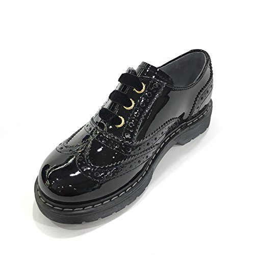 BLACK GARDENS JUNIOR schwarz 31800 englisches Mädchen Schuhe malen Nero