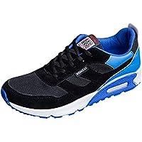 JiaMeng Zapatos de Viaje Casuales Zapatos Deportivos con Cordones y bajo del Tobillo para Correr Running