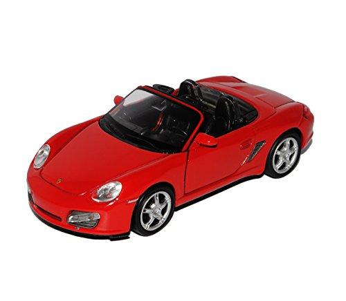 Welly Porsche Boxster S 987 Cabrio Offen Rot 2004-2012 ca 1/43 1/36-1/46 Modell Auto mit individiuellem Wunschkennzeichen
