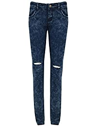 Womens ladies Full Length Riped Slimfitted Jeggings Jeans Leggings Bottom Pants