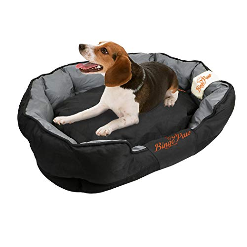 WISFORBEST Waterproof Dog Bed, Removable Pet Cushion Washable Puppy Padded Kennel with Scratch Prevention Cloth for Medium & Large  Dog