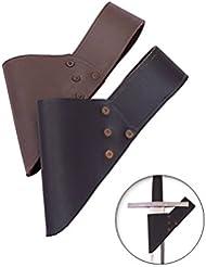 Schwertgürtelhalter aus Leder, verschiedene Farben von Battle-Merchant - Schwerthalter
