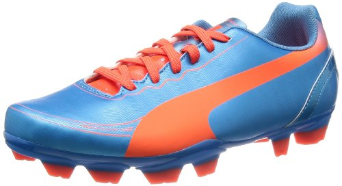 PUMA evoSPEED 5.2 FG Jr 102887 Unisex-Kinder Fußballschuhe Blau (sharks blue-fluro peach-fluro yellow 04)