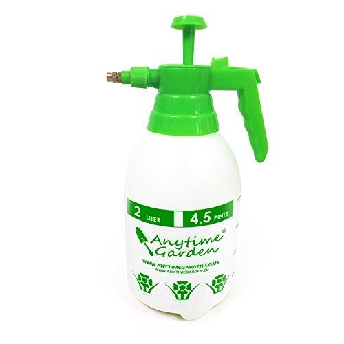 DRUCKSPRÜHER Universal Sprüher - Hand Gartenspritze, auch für Chemikalien und Pestizide geeignet – Spritzen Sie Unkräuter, Dünger usw. Messingdüse - 100% Zufriedenheitsgarantie (2L)