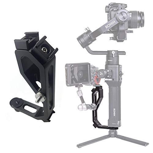 Wildhooy Mini-Griff-Griff L Halterung für Monitore, Mikrofonadapter, Licht, Mikrofonstativ, kompatibel mit DJI Ronin S ZHIYUN Smoth 4 Kran M Crane 2 Plus/MOZA Aircross/FEIYU Gimbal (Dji-monitor-halterung)