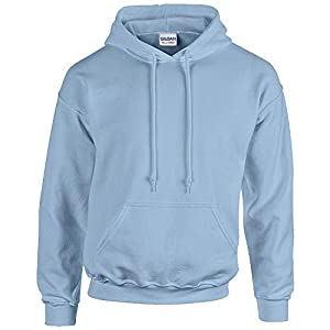 Gildan Heavy Blend Erwachsenen Kapuzen-Sweatshirt 18500 Light Blue S