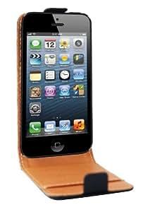 Swiss Charger SCP10038 Etui flip en cuir pour iPhone 5 Noir