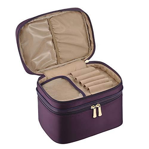 CHICECO Grande Trousse de Toilette Femme Sac Maquillage Zippé 2 Compartiments – Violet