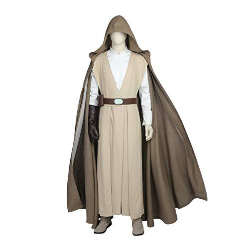 QWEASZER clothing Star Wars 8 die letzten Jedi 1: 1 Kostüm Deluxe Edition Superheld Cosplay Kleidung Kostüm Film Kleidung Requisiten Anpassbare Größe,Luke - Deluxe Jedi Kostüm
