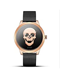 b9897a9b5940 Cabeza De Cráneo Puntero Hueco Simple Reloj De Cuarzo De Dos Agujas para  Hombres