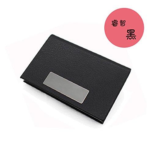 SANMULYH Ultra Thin Business Card Clip Business Fashion Große Kapazität Für High-End-Empfang Card Box, Schwarz (Clip Ordentlich Ultra)